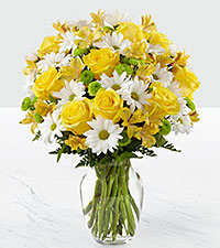 The FTD® Sunny Sentiments™ Bouquet- VASE INCLUDED