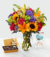 Best Day™ Bouquet & Gift Set