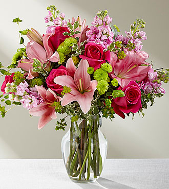 The FTD® Pink Posh™ Bouquet- VASE INCLUDED