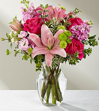 Le bouquet Pink Posh™ – VASE INCLUS
