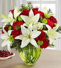 The FTD® Winter Elegance™ Bouquet-VASE INCLUDED