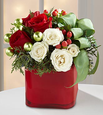 The Merry & Bright™ Bouquet by FTD® - VASE INCLUDED