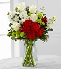 The FTD® Christmas Peace™ Bouquet - VASE INCLUDED