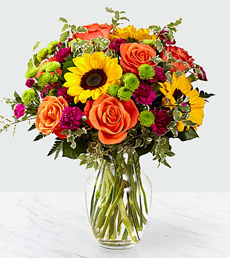 The Ftd 174 Color Craze Bouquet Vase Included