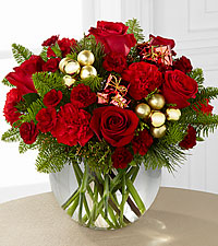 The FTD® Holiday Gold™ Bouquet - VASE INCLUDED
