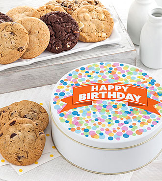 FTD Exclusive! Big Cookie Confetti Tin -GOOD