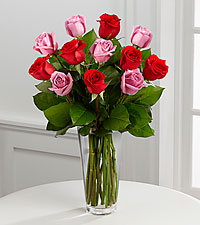 The Red & Lavender Rose Bouquet by FTD® - VASE INCLUDED