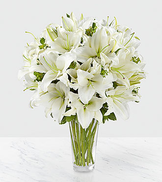 Le bouquet de lys Spirited Grace™ - VASE INCLUS