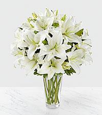 Le bouquet de lys Spirited Grace™ - VASE INCLUS