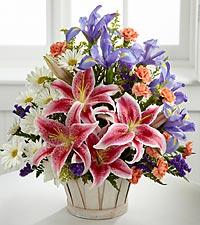 Bouquet Wondrous Nature™ avec panier