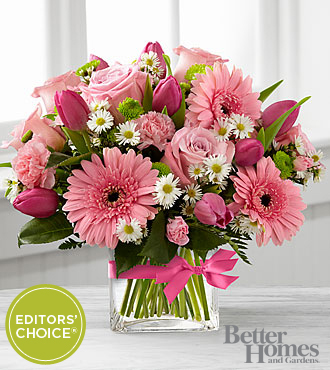The FTD® Blooming Vision™ Bouquet by Better Homes and Gardens® - VASE INCLUDED
