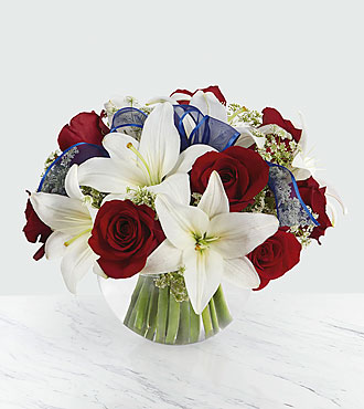 Bouquet Independence - VASE INCLUS