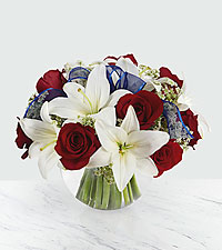 he FTD® Independence™ Bouquet - VASE INCLUDED