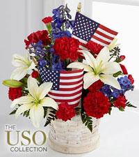 Le bouquet American Glory<sup>&trade;</sup> de FTD<sup>®</sup> - PANIER INCLUS