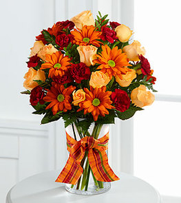 The FTD® Golden Autumn™ Bouquet - VASE INCLUDED