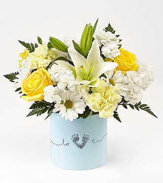 The FTD® Tiny Miracle™ New Baby Boy Bouquet