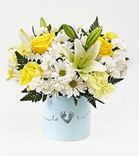 Le bouquet pour garçon nouveau-né Tiny Miracle™ - VASE INCLUS