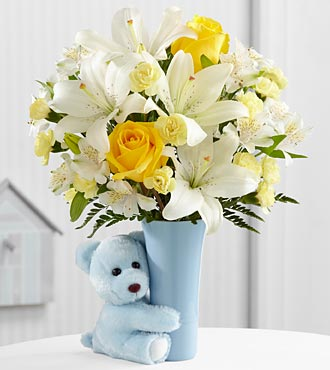 The Baby Boy Big Hug® Bouquet - VASE INCLUDED