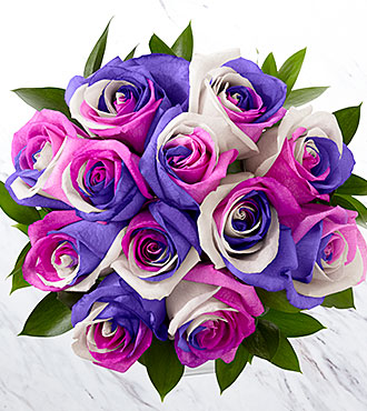 Loving Wishes Fiesta Rose Bouquet - 12 Stems, No Vase
