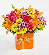 Le bouquet d'anniversaire Set to Celebrate™ - VASE INCLUS