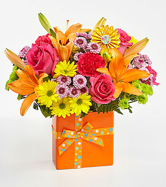 Le bouquet d'anniversaire Set to Celebrate™ de FTD® - VASE INCLUS