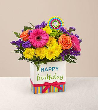 Le bouquet Birthday Brights™ de FTD® - VASE INCLUS