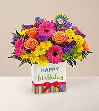 Le bouquet Birthday Brights™ - VASE INCLUS