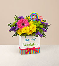Le bouquet Birthday Brights™ - VASE INCLUS