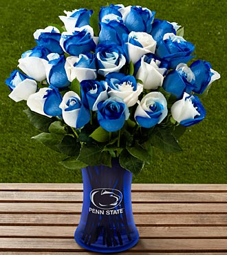 The FTD® Penn State® Nittany Lions® Rose Bouquet - 24 Stems - VASE INCLUDED