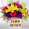 The Happy Birthday Bouquet by FTD® - VASE INCLUDE