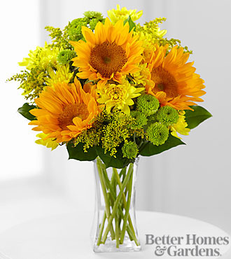 FTD® Sun Sensation Bouquet by Better Homes and Gardens® - VASE INCLUDED