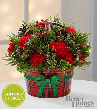 The FTD® Cozy Christmas Holiday Arrangement by Better Homes and Gardens®