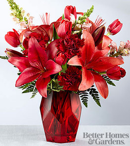 The FTD® Your Heart is My Home Valentine Bouquet by Better Homes and Gardens® -VASE INCLUDED