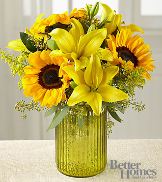 The FTD® Sunny Side Up Bouquet by Better Homes and Gardens® - VASE INCLUDED
