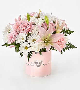 Tiny Miracle™ New Baby Girl Bouquet - VASE INCLUDED