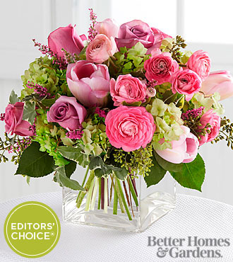 The FTD® Blooms of Hope Bouquet by Better Homes and Gardens® - VASE INCLUDED