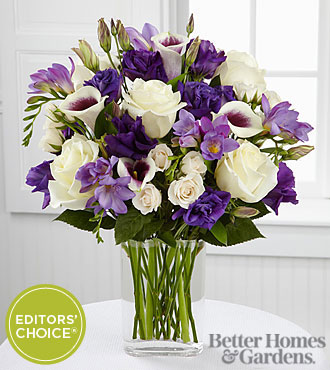 The FTD® Moonlit Meadows Bouquet by Better Homes and Gardens® - VASE INCLUDED