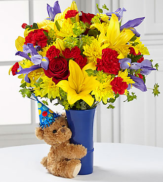 Le bouquet d'anniversaire Big Hug® de FTD® - VASE INCLUS