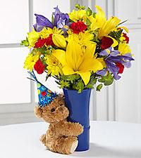 Big Hug® Birthday Bouquet - VASE INCLUDED