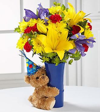 The FTD® Big Hug® Birthday Bouquet - VASE INCLUDED