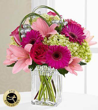 The FTD® Blooming Bliss™ Bouquet - VASE INCLUDED