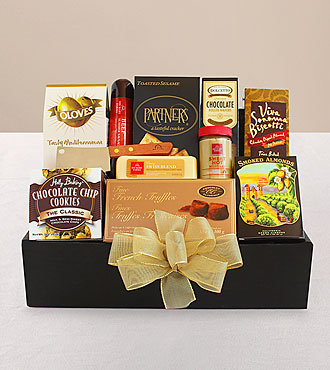 Classic Gourmet Salami and Cheese Box
