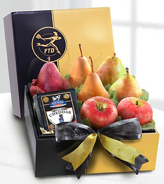 The FTD® Gourmet Fruit & Cheese Gift Box - GOOD