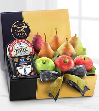 The FTD® Gourmet Fruit & Cheese Gift Box - BETTER