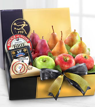 The FTD® Gourmet Fruit & Cheese Gift Box - BEST