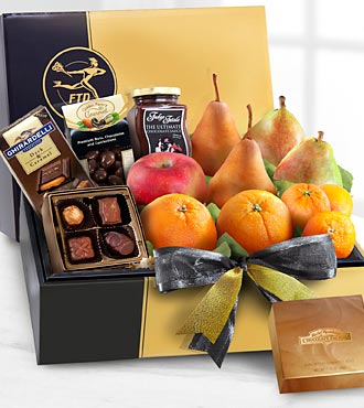The FTD® Gourmet Fruit & Chocolates Gift Box - BEST