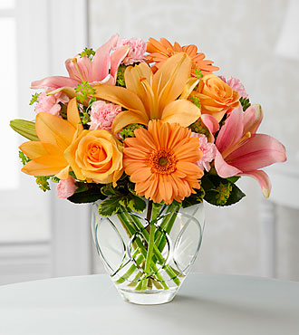 The Brighten Your Day™ Bouquet by FTD® - CUT GLASS VASE INCLUDED