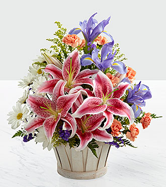 The Wondrous Nature Bouquet Basket Included