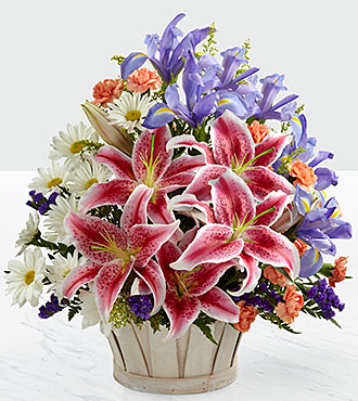 Le bouquet Wondrous Nature™ - PANIER INCLUS