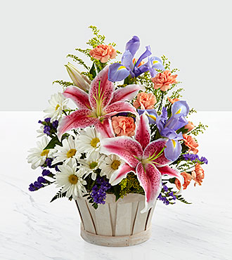 Le bouquet Wondrous Nature™ par FTD® - PANIER INCLUS